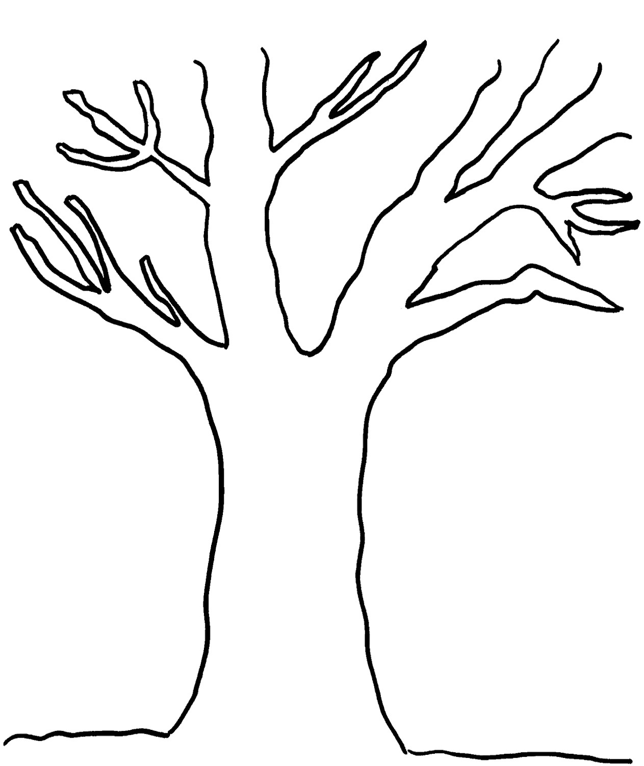 Free Printable Pictures Of Trees, Download Free Clip Art, Free Clip - Free Printable Tree Template