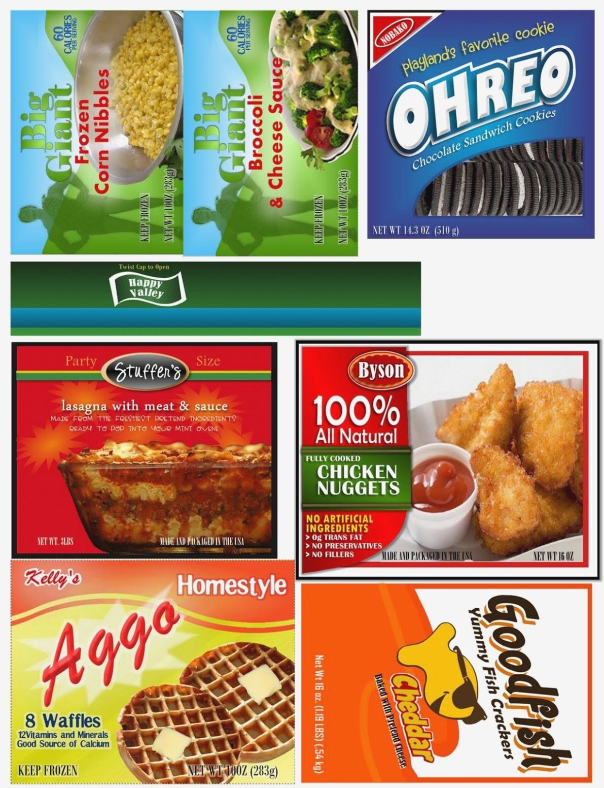 Free Printable Play Food Labels Free Of Kid Food Play Labels The Sew - Free Printable Play Food Labels