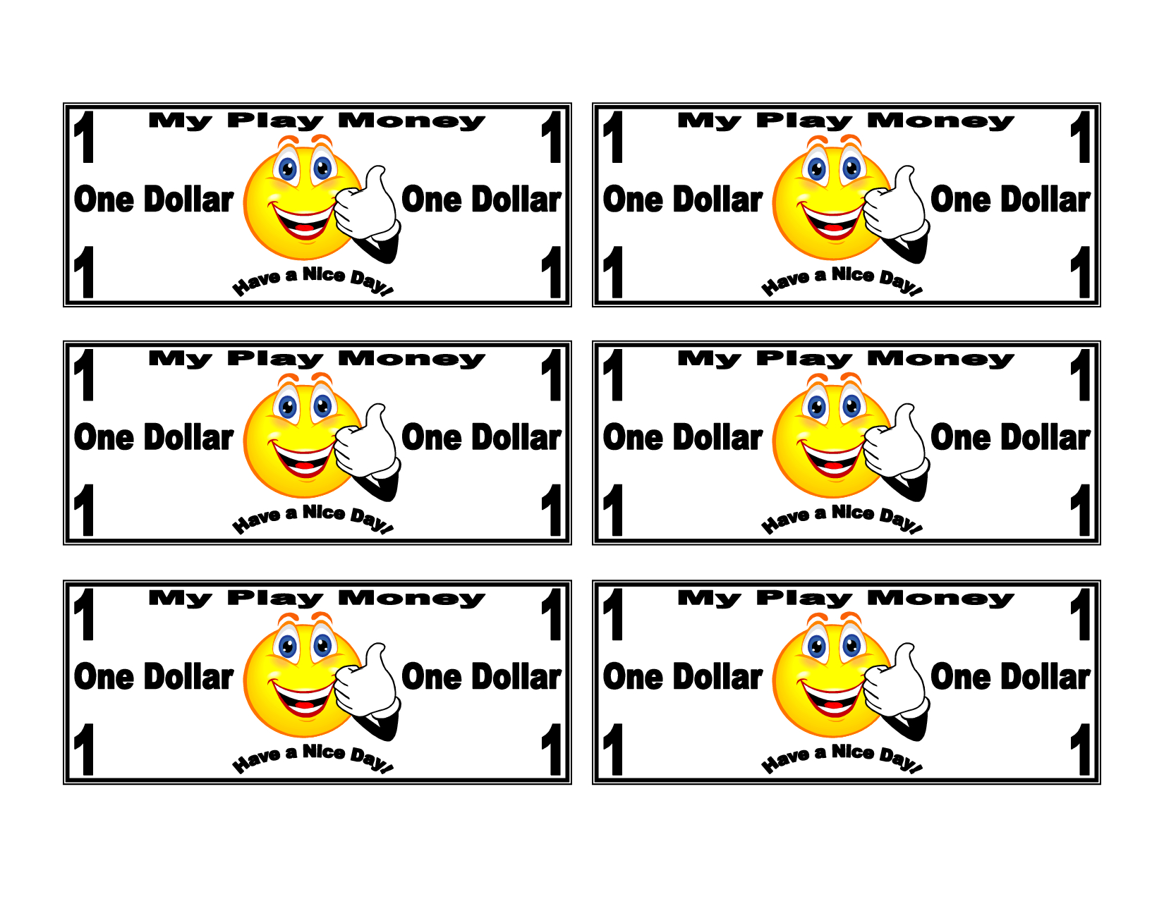 Free Printable Play Money | Printable Money Template Play Money Kids - Free Printable Money For Kids