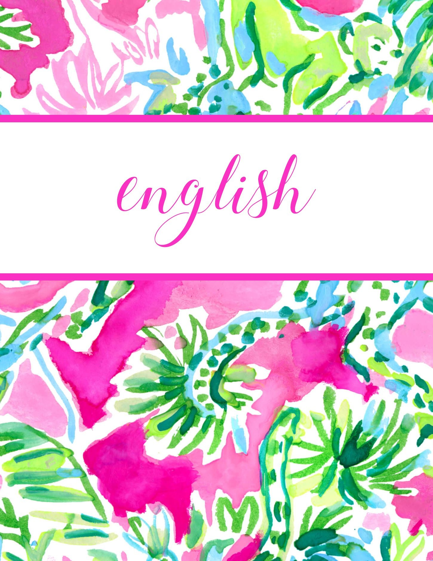 Free Printable Preppy Lilly Pulitzer Binder Covers | Craft Lovely - Free Printable School Binder Covers