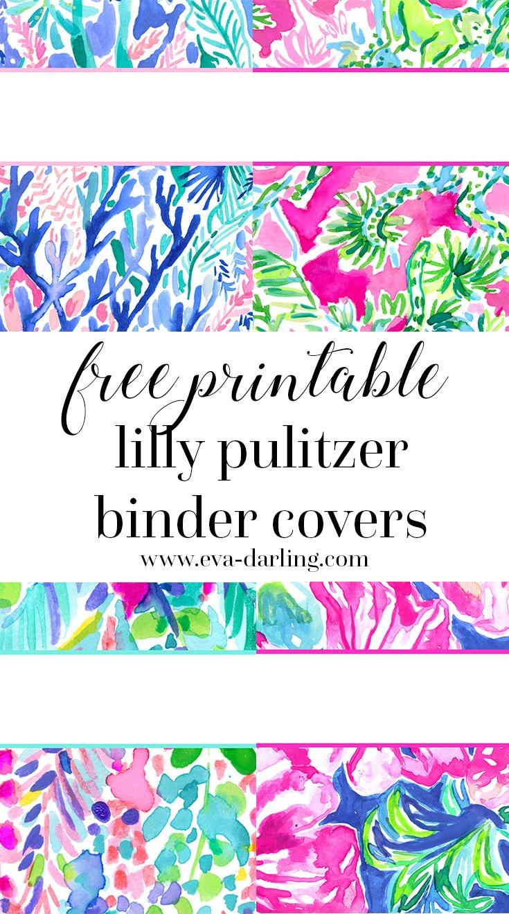 Free Printable Preppy Lilly Pulitzer Binder Covers - Free Printable School Binder Covers