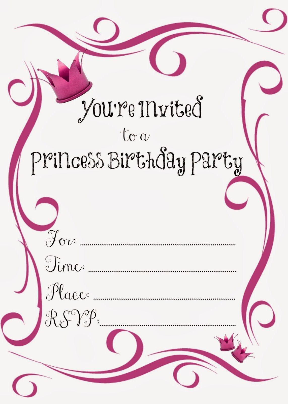 Free Printable Princess Birthday Party Invitations   Printables - Free Printable Birthday Scrolls