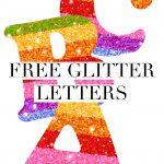 Free Printable Rainbow Glitter Letters | Free Printable Letters   Free Printable Rainbow Letters