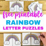 Free Printable Rainbow Upper And Lowercase Letter Matching Puzzles   Free Printable Rainbow Letters