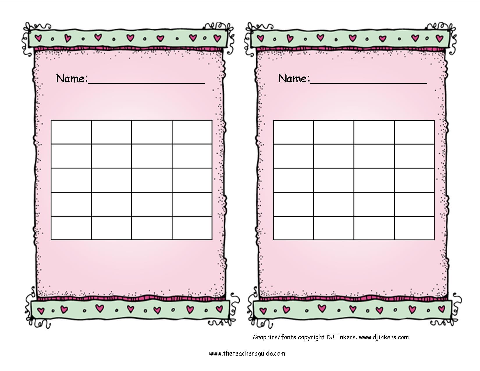 Free Printable Reward And Incentive Charts - Free Printable Incentive Charts For Students