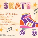 Free Printable Roller Skating Party Invitations   Laylas Birthday   Free Printable Roller Skate Template
