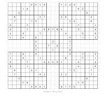 Free Printable Samurai Sudoku Puzzles | Spellen | Spellen   Free Printable Samurai Sudoku