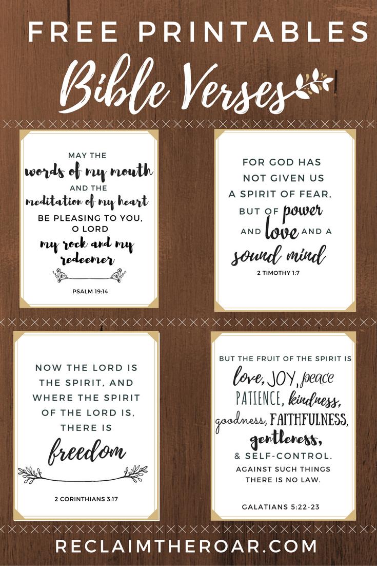 Free Printable Scriptures | Words | Printable Bible Verses, Bible - Free Printable Bible Verses For Children