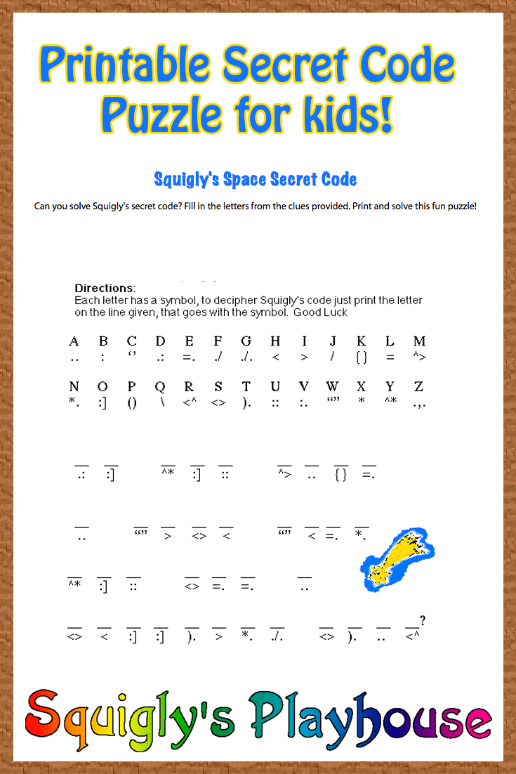 Free Printable Secret Code Word Puzzle For Kids. This Puzzle Has A - Printable Escape Room Free