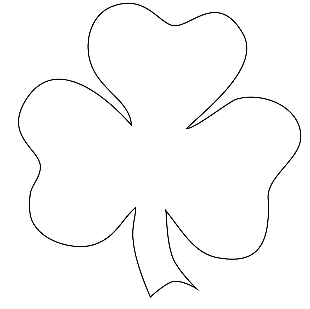 Free Printable Shamrock Coloring Pages For Kids - Free Printable Shamrocks