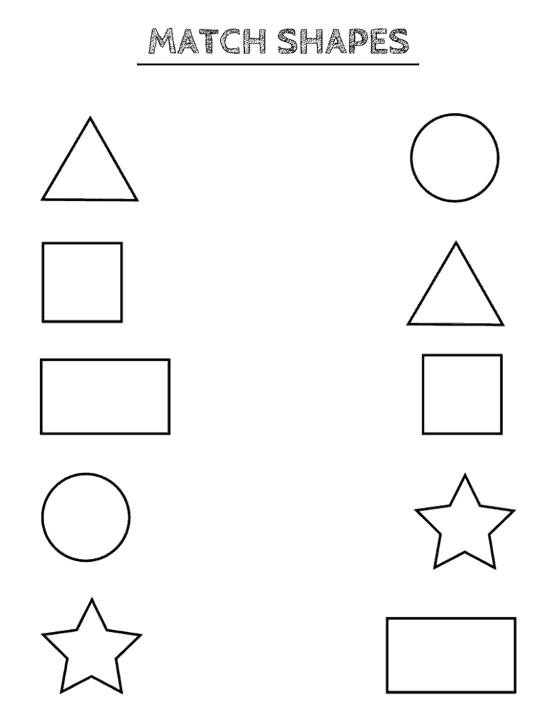 Free Printable Shapes Worksheets For Toddlers And Preschoolers - Free Printable Learning Pages For Toddlers