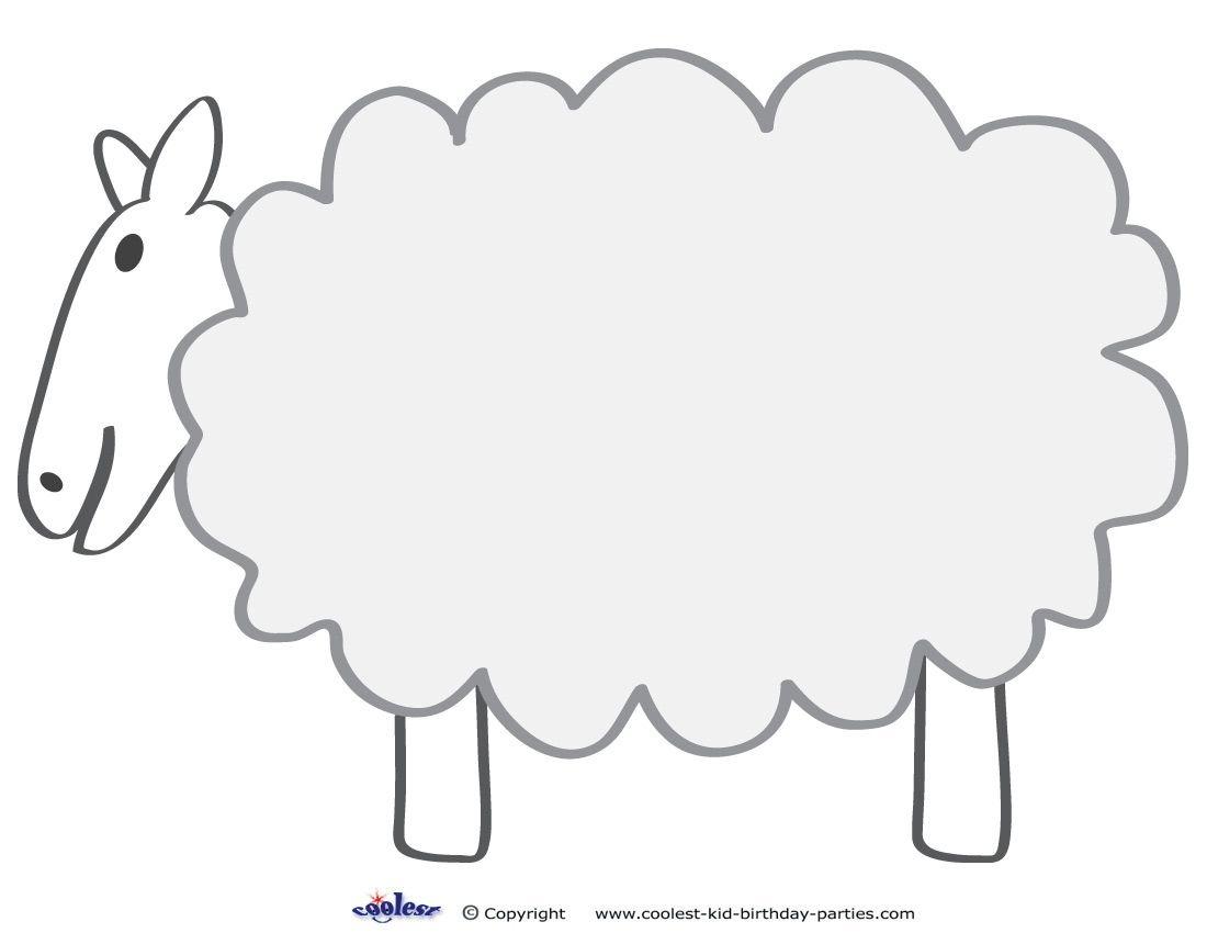 Free Printable Sheep Template   Colors And Things   Sheep Template - Free Printable Pictures Of Sheep