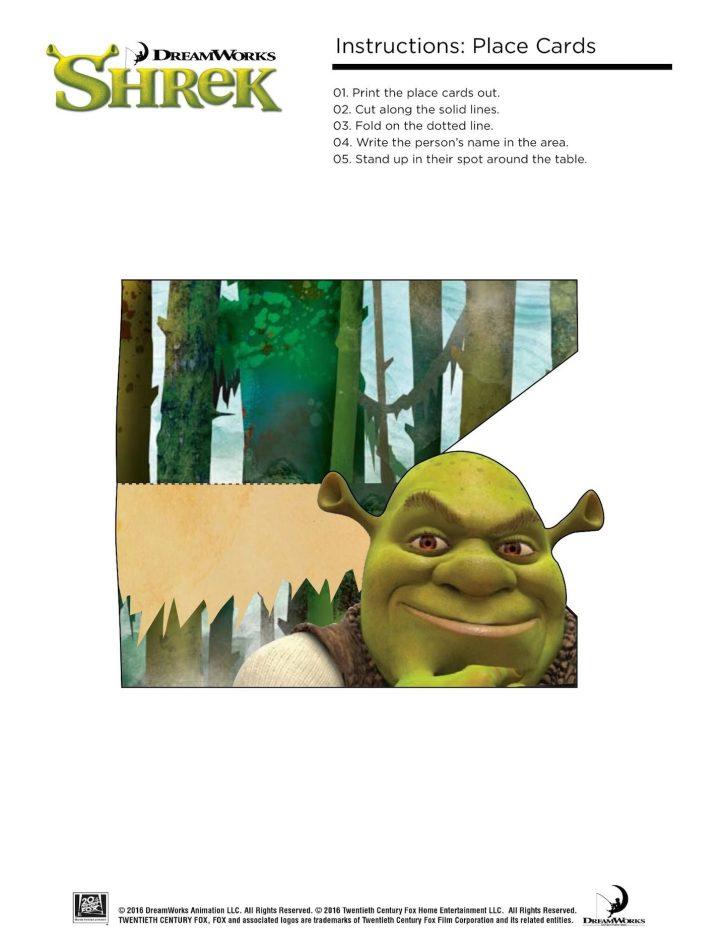 Free Printable Shrek Birthday Invitations