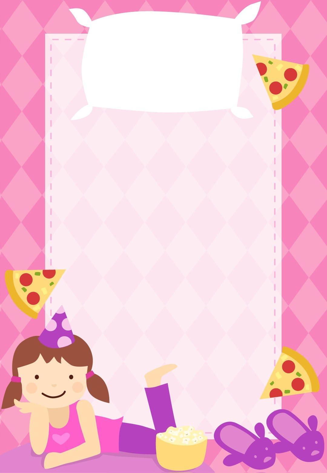 Free Printable Sleepover Party Invitation Customizable Too - Free Printable Spa Party Invitations Templates