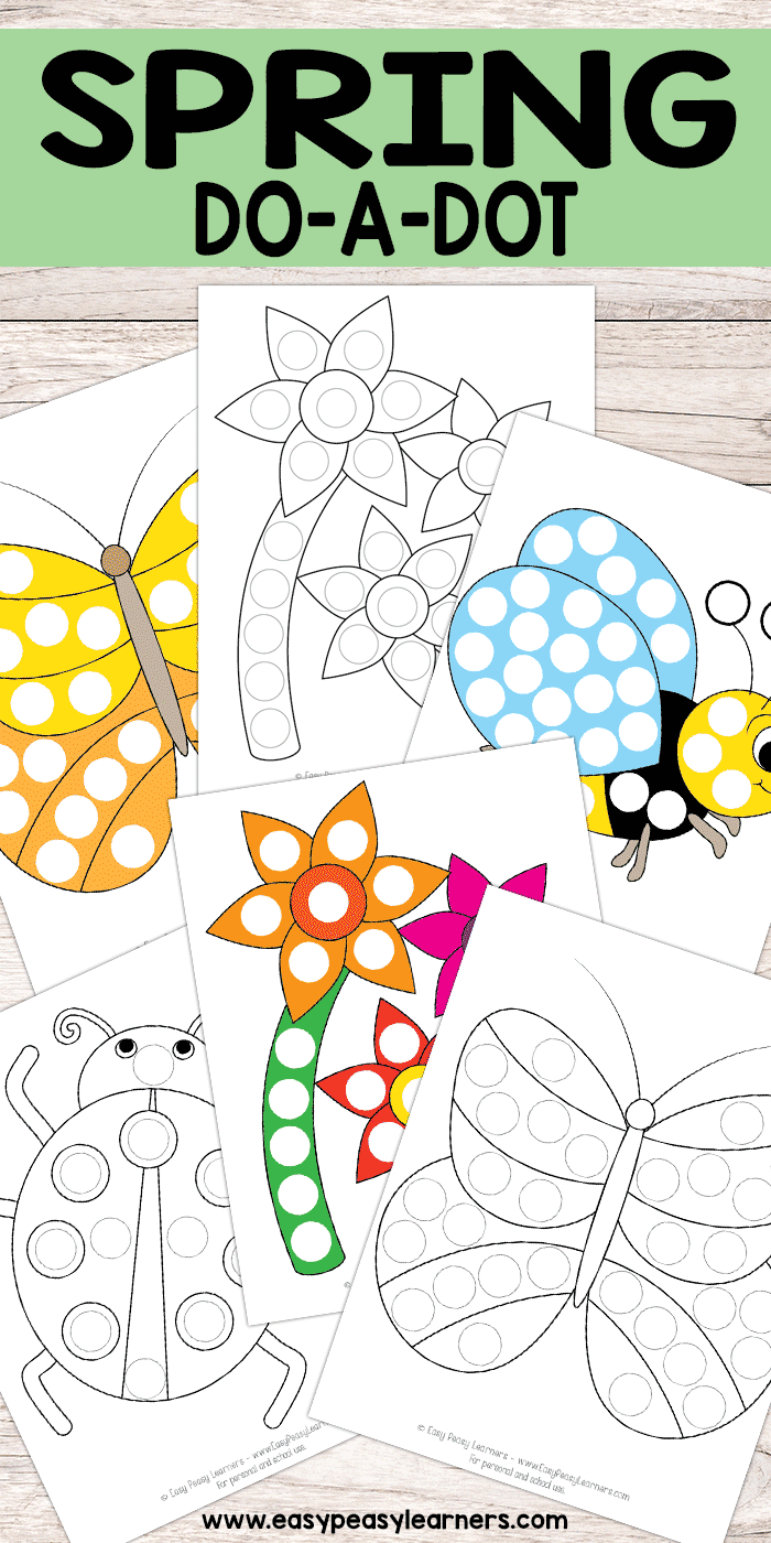 Free Printable Spring Do A Dot Pages | Crafts & Activities For Kids - Do A Dot Art Pages Free Printable