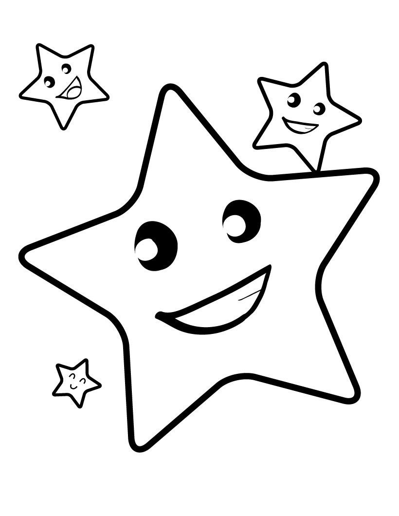 Free Printable Star Coloring Pages For Kids | 4 Kids Coloring Pages - Free Printable Coloring Pages For Toddlers