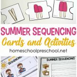 Free Printable Summer Sequencing Cards For Preschoolers   Free Printable Sequencing Cards For Preschool