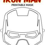 Free Printable Superhero Face Masks For Kids   Simple Mom Project   Free Printable Ironman Mask