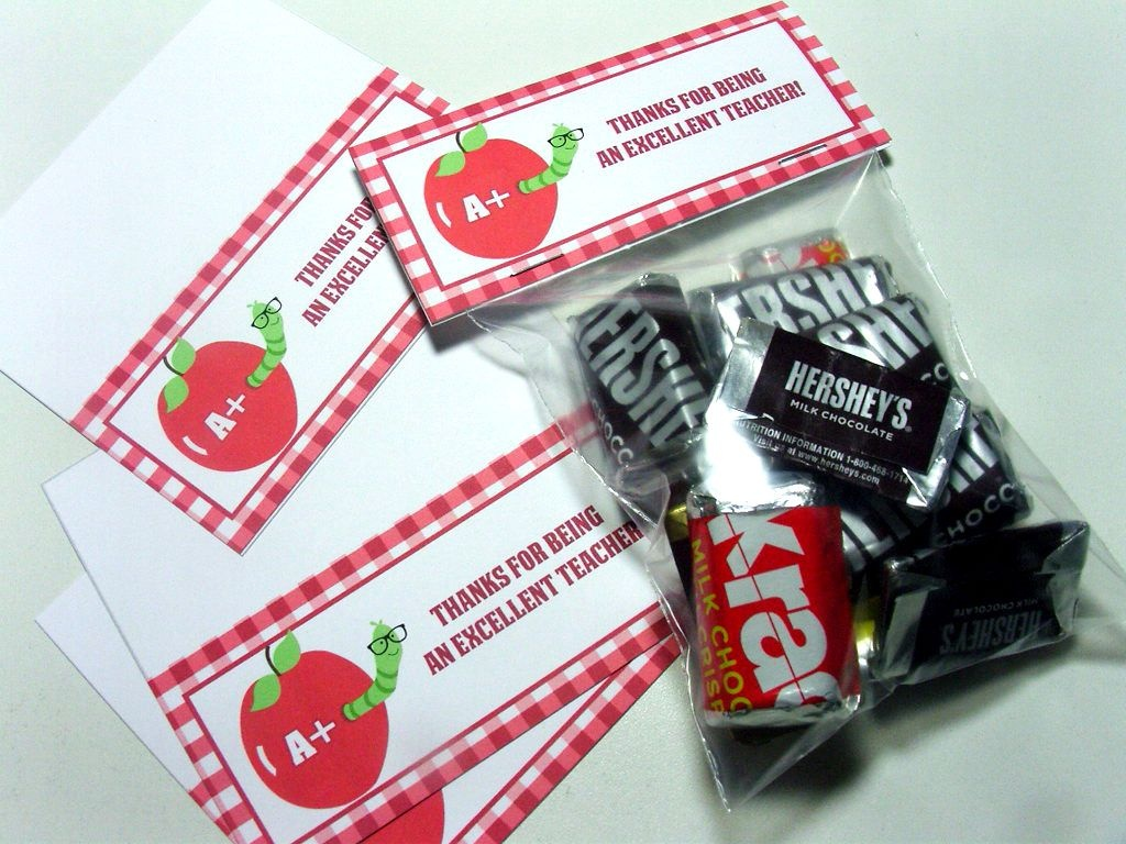 Free Printable - Teacher Appreciation Gift Bag Topper Tags - Free Printable Gift Bag Tags