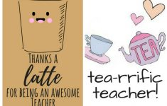 Free Printable Teacher Appreciation Thank You Cards | ✽ Back To – Free Printable Teacher Appreciation Cards