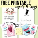 Free Printable Thank You Cards And Tags For Favors And Gifts! | Baby - Free Printable Baby Shower Thank You Cards