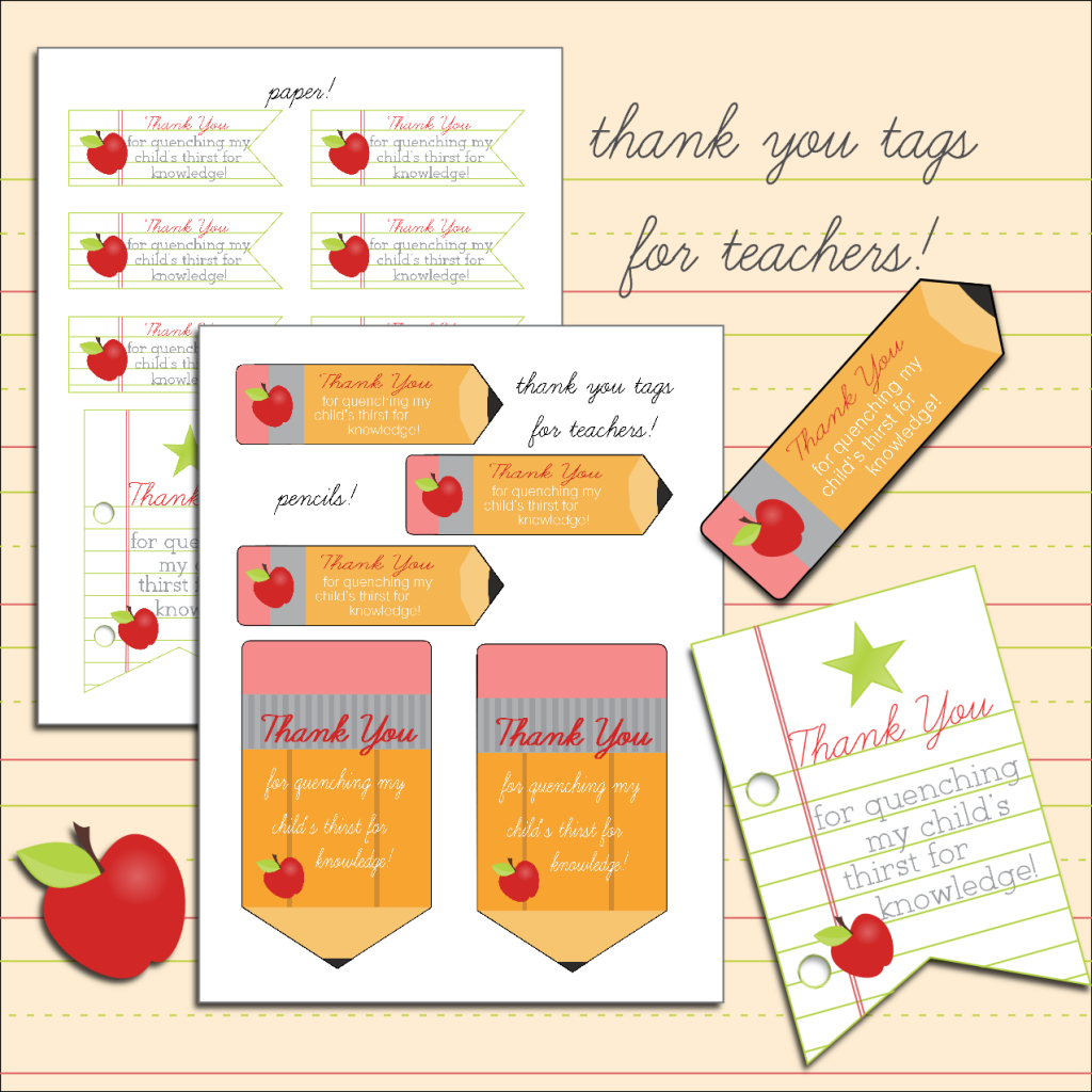 Free Printable Thank You Tags For Teachers | Teacher Appreciation - Free Printable Volunteer Thank You Cards