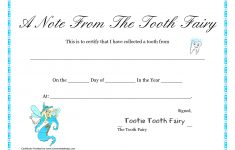 Free Printable Tooth Fairy Letter   Tooth Fairy Certificate – Free Printable Tooth Fairy Certificate