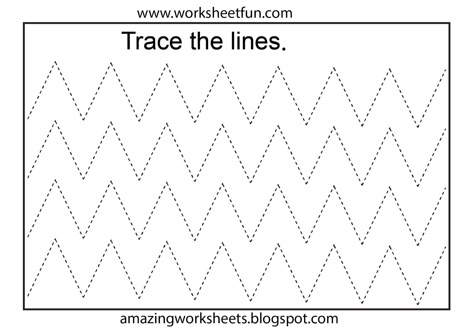 Free Printable Tracing Worksheets Preschool   Preschool Worksheets - Free Printable Preschool Worksheets Tracing Lines