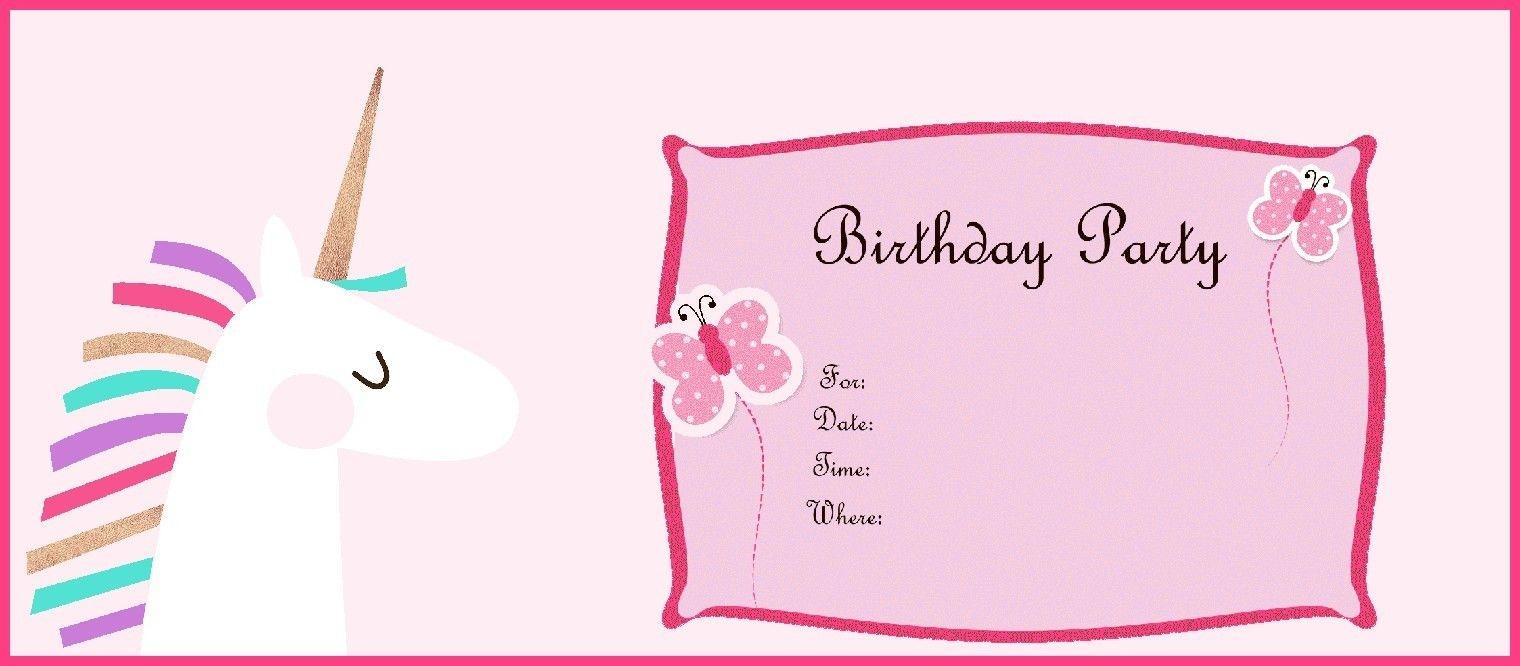 Free Printable Unicorn Birthday Party Invitation | Unicorn In 2019 - Birthday Party Invitations Online Free Printable