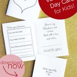 Free Printable: Valentine's Day Card For Kids | Valentine's Day   Free Printable Valentines Day Cards For Parents