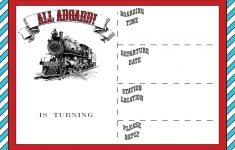Free Printable Vintage Train Ticket Invitation | Free Printable – Free Printable Ticket Invitation Templates