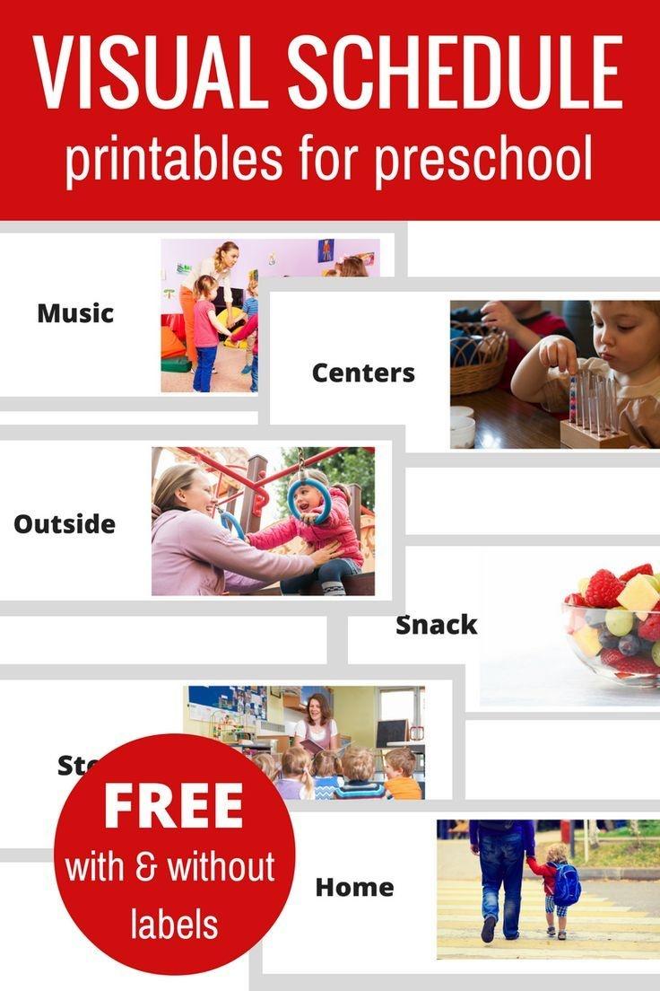 Free Printable Visual Schedule For Preschool | Tes Teacher Tools For - Free Printable Visual Schedule For Preschool