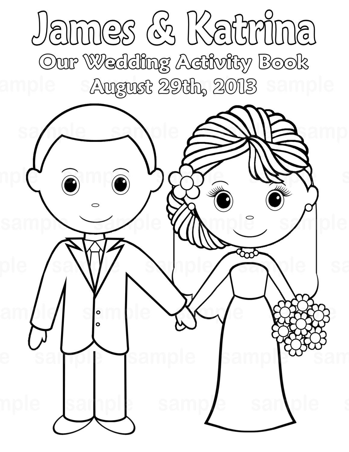 Free Printable Wedding Coloring Pages   Free Printable Wedding - Wedding Coloring Book Free Printable