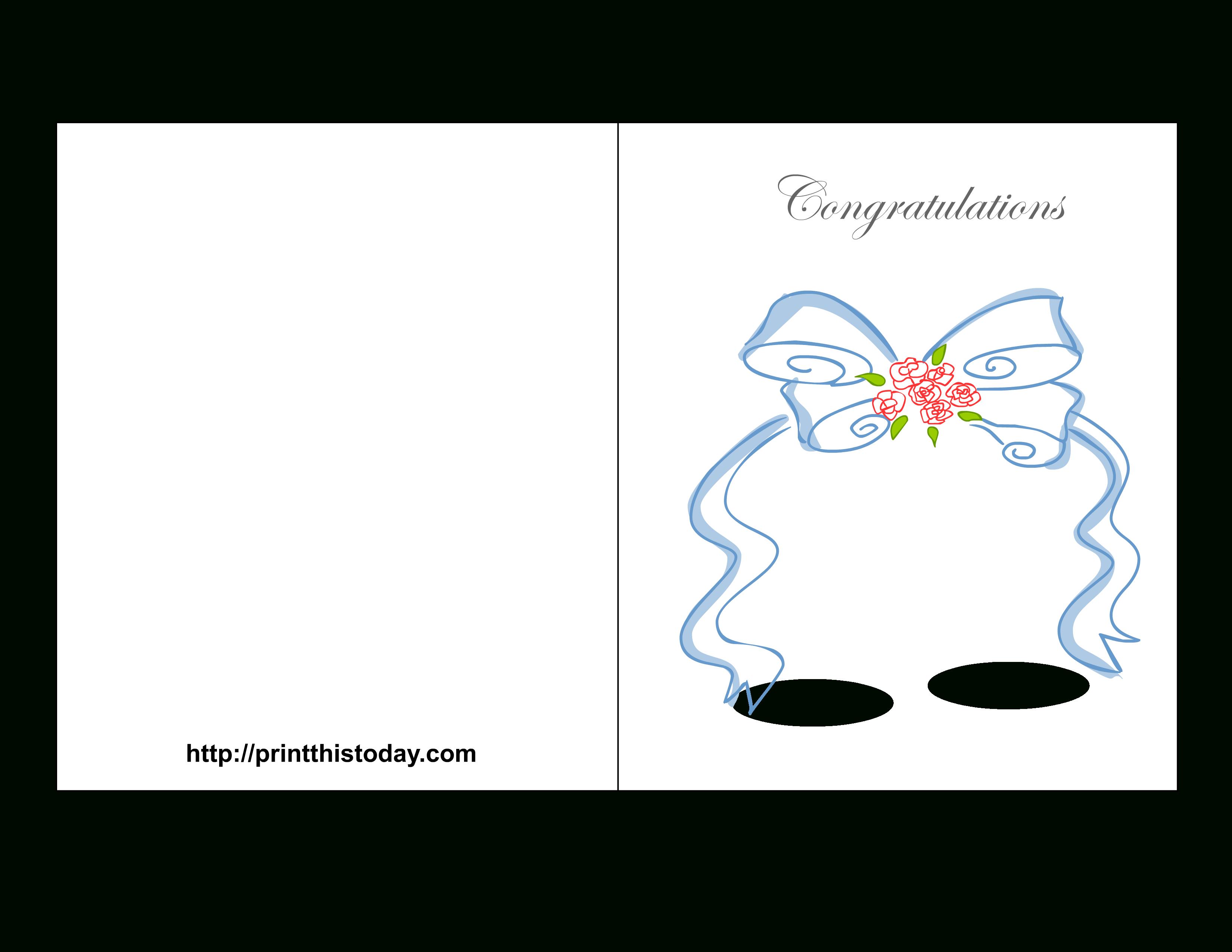 Free Printable Wedding Congratulations Cards - Free Printable Wedding Cards