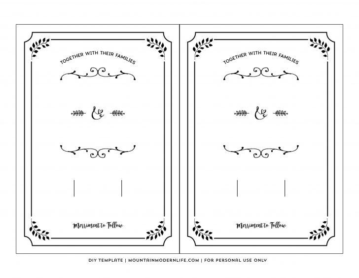 Free Printable Wedding Invitations Templates Downloads