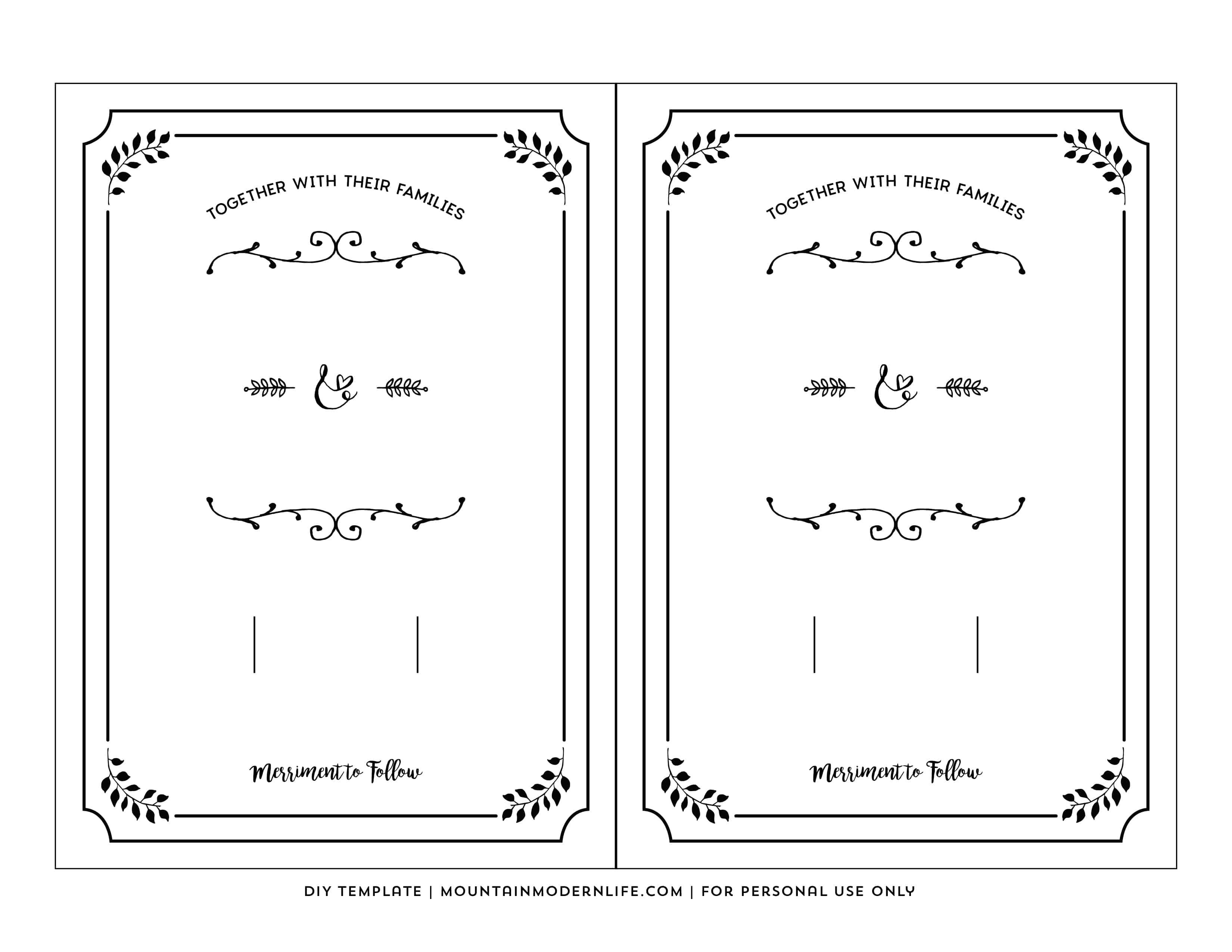 Free Printable Wedding Invitation Template - Free Printable Wedding Invitations Templates Downloads