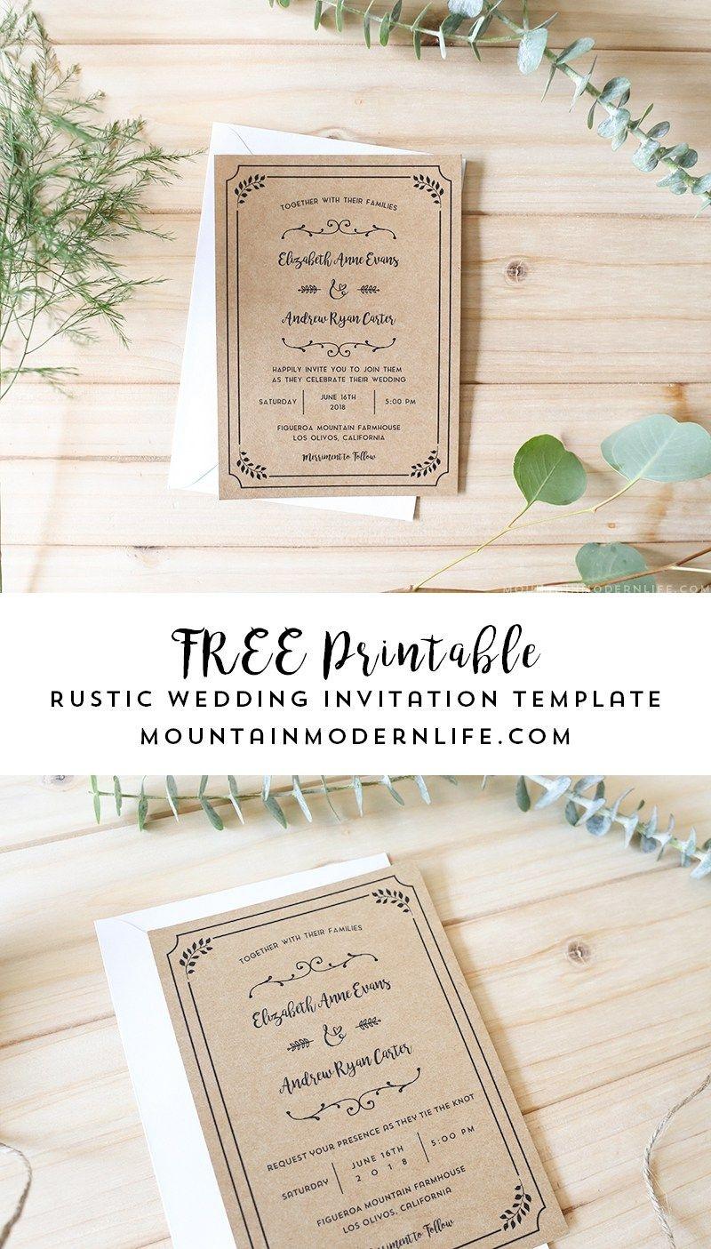 Free Printable Wedding Invitation Template | | Freebies | | Free - Free Printable Wedding Invitations Templates Downloads