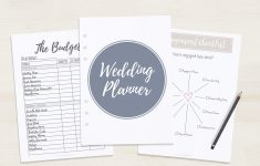 Free Printable Wedding Planner – A5 & Letter – Free Printable Wedding Binder Templates