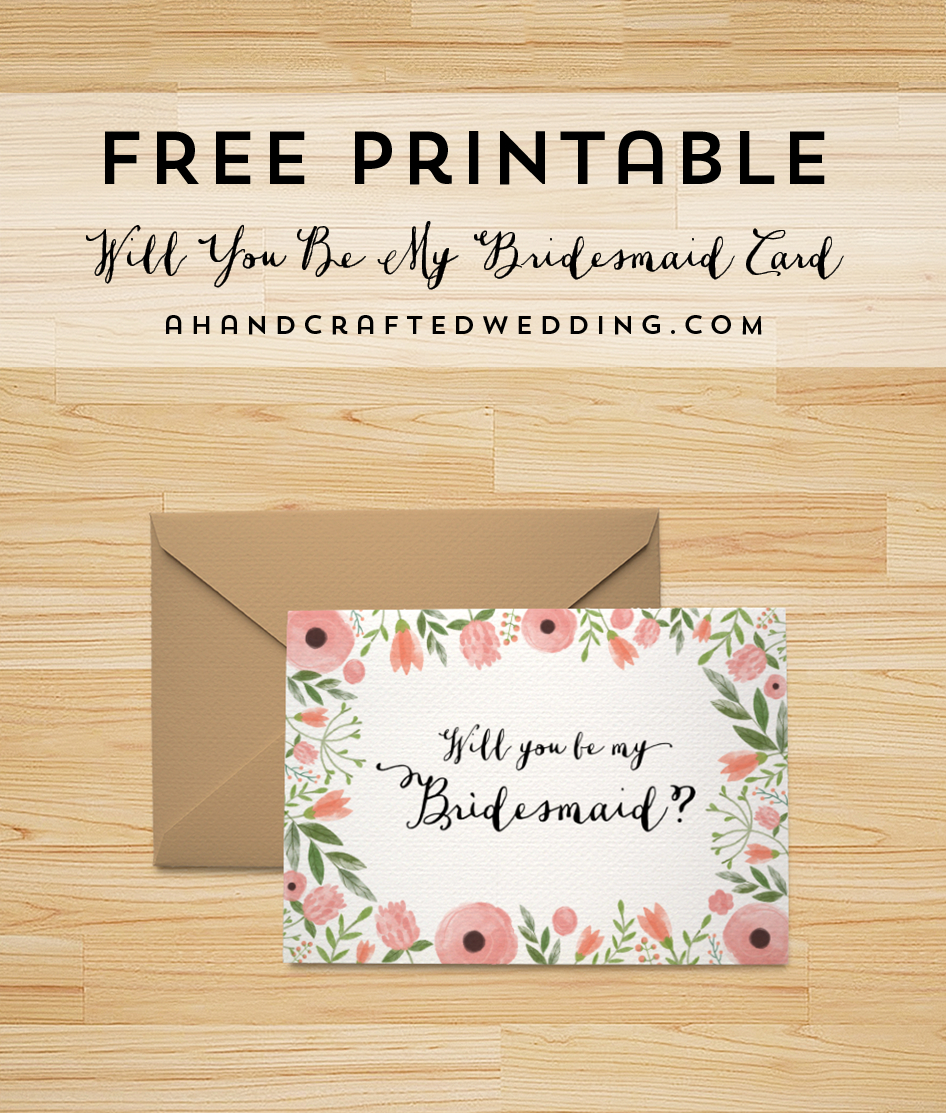Free Printable Will You Be My Bridesmaid Card | | Freebies - Free Printable Will You Be My Bridesmaid Cards