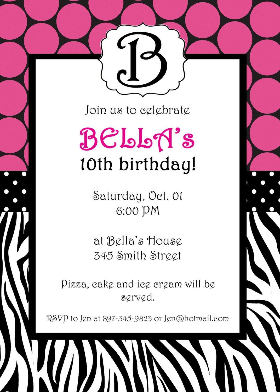 Free Printable Zebra Print Invitations Baby Shower | Emma | Free - Free Printable Animal Print Birthday Invitations