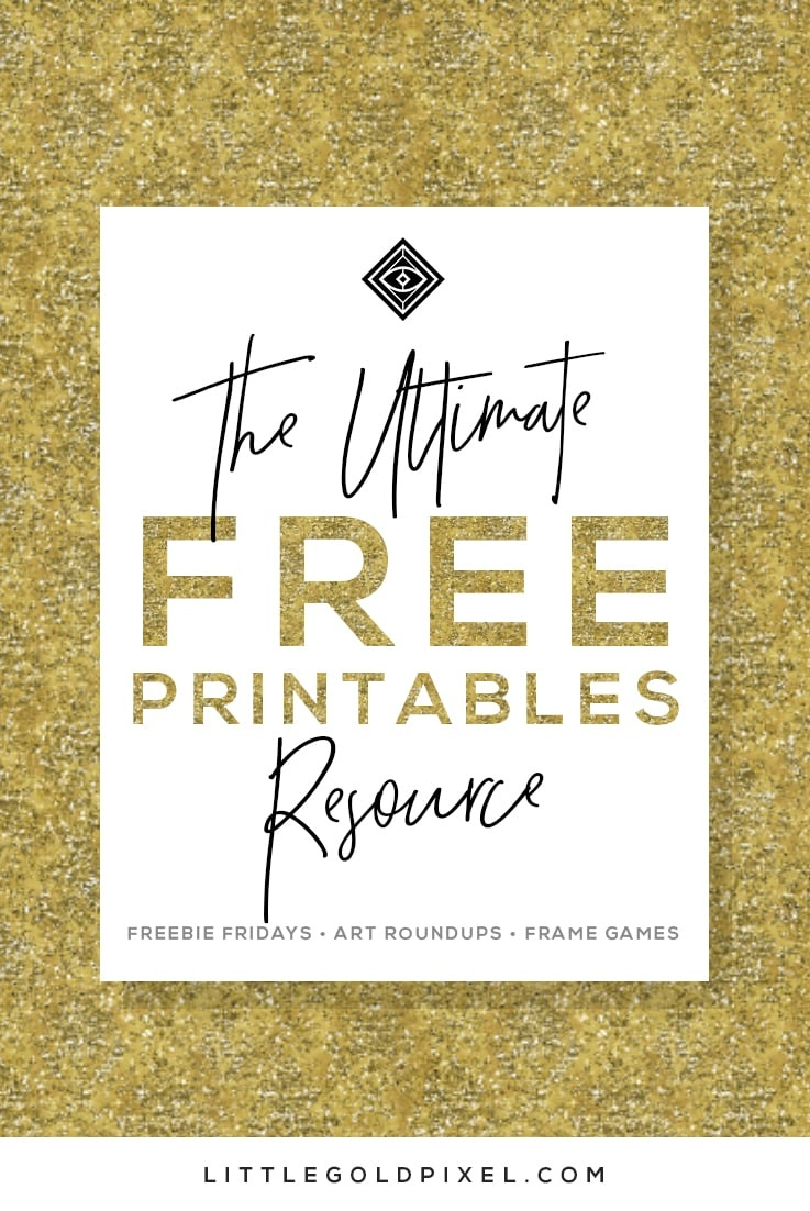 Free Printables • Free Wall Art Roundups • Little Gold Pixel - Free Printable Decor