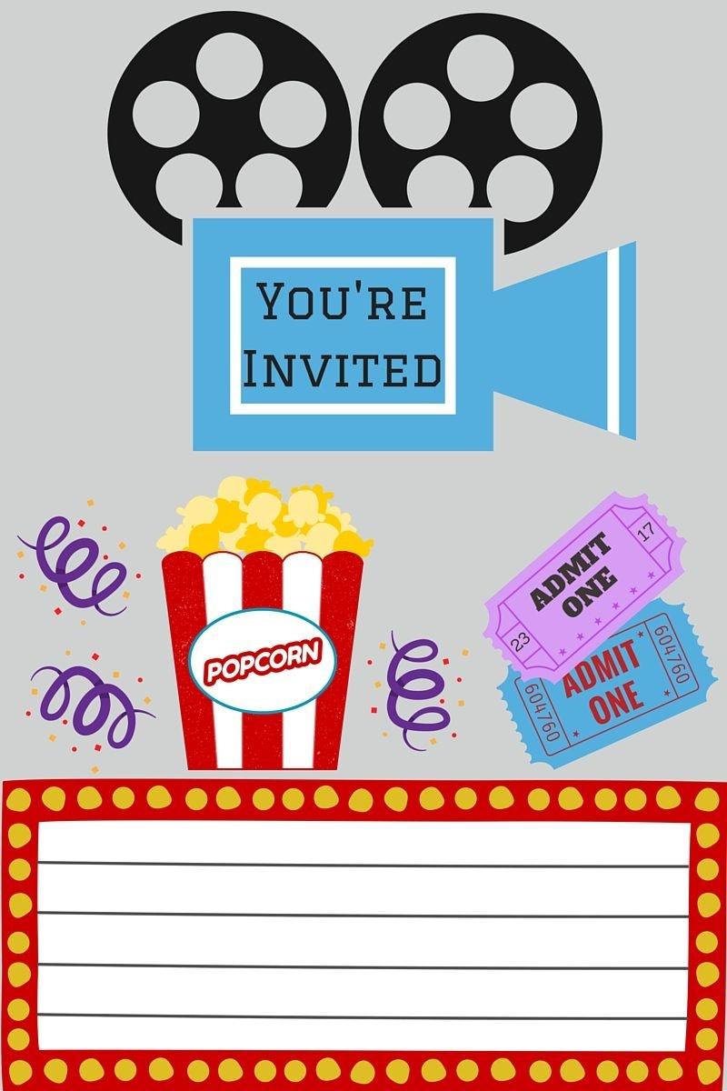 Free Printables | Movie Night Party | Movie Night Invitations, Movie - Free Printable Movie Tickets
