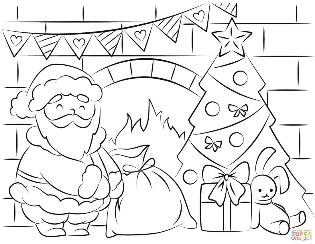 Free Santa Coloring Pages And Printables For Kids - Free Printable Pictures
