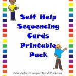 Free} Self Help Skills Sequencing Cards Printable Pack  Getting   Free Printable Sequencing Cards For Preschool