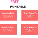 Free She's Ready To Pop! Tags, Labels, Baby Shower Tags From Www   Free Printable She's Ready To Pop Labels