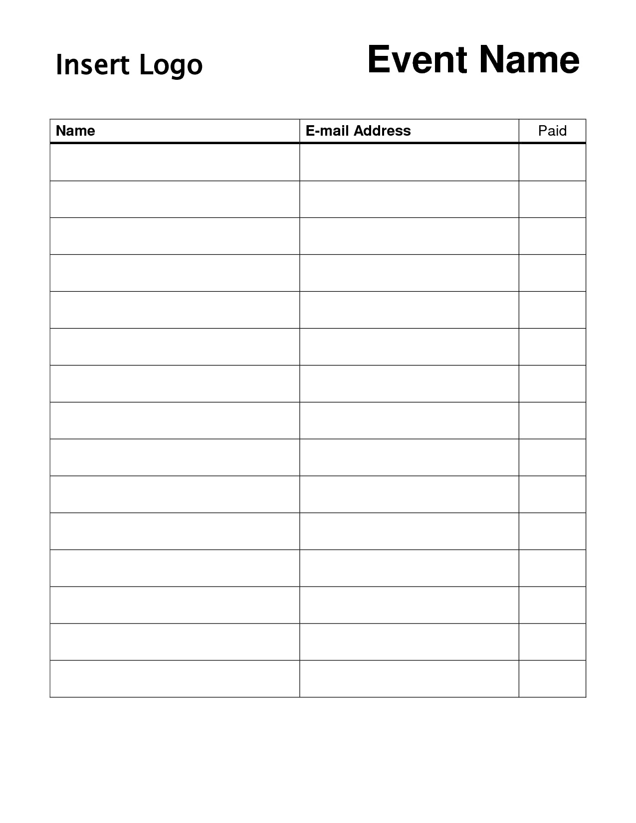 Free Sign Up Sheet Template Printable | Shop Fresh - Free Printable Sign In Sheet