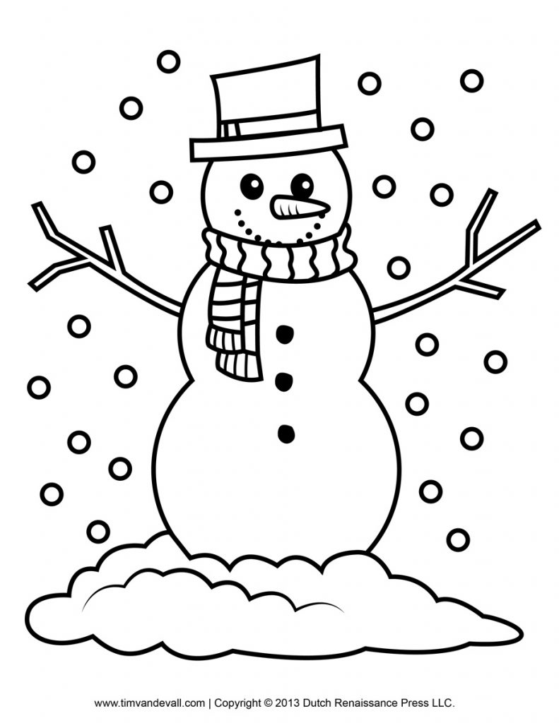 Free Snowman Clipart, Template & Printable Coloring Pages ...