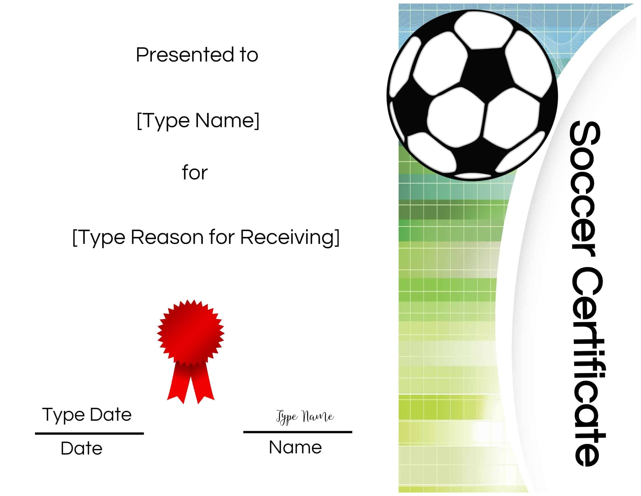 Free Soccer Certificate Maker | Edit Online And Print At Home - Free Printable Soccer Certificate Templates