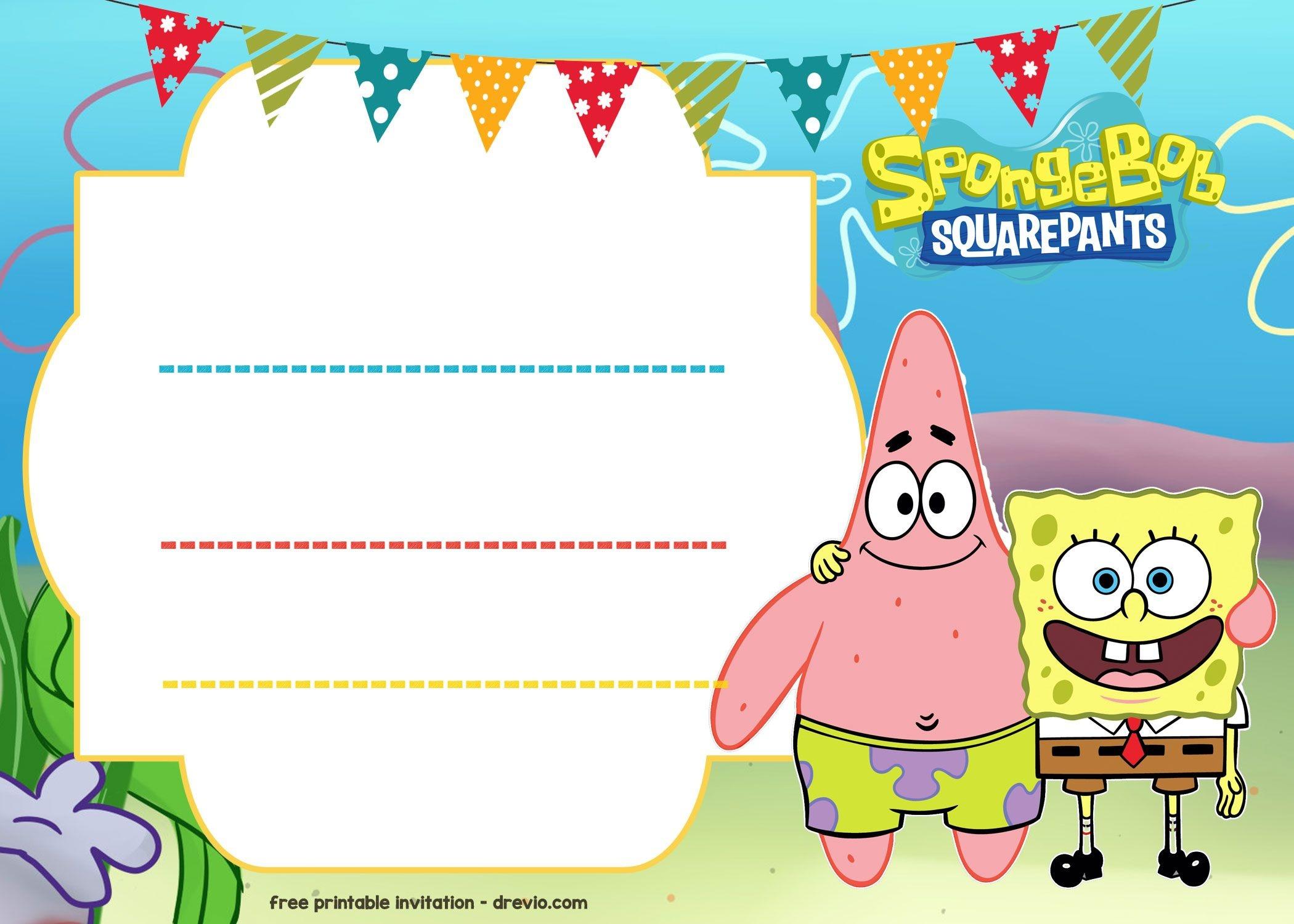 Free Spongebob Birthday Invitation | Free Printable Birthday - Spongebob Free Printable Invitations