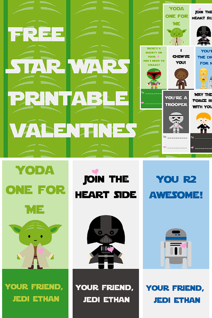 Free Star Wars Printable Valentines - A Grande Life - Free Printable Lego Star Wars Valentines